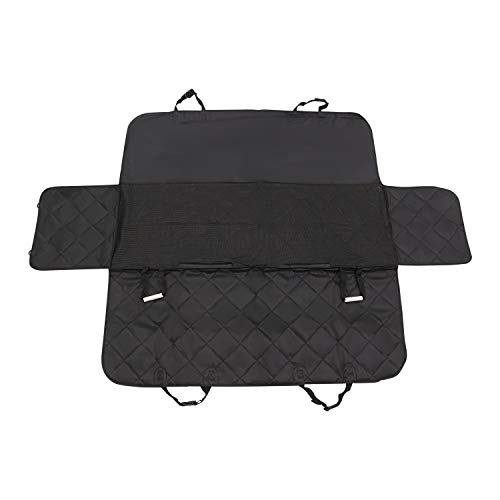without Waterproof Pet Carrier Car Rear Back Seat Dog Car Seat Cover View Mesh Mat Hammock Cushion Protector Outdoor Travel Dog Suppiler (Color : Black)