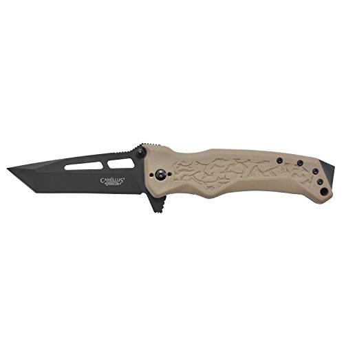 Camillus GB-8 Cuchillo Plegable, Unisex-Adult, Negro