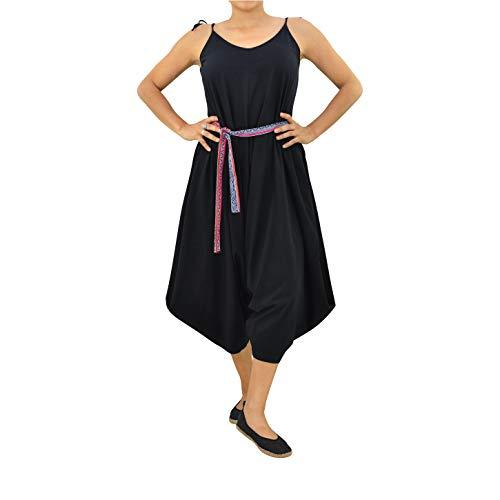 virblatt – Langer Jumpsuit Damen Elegant Frauen Boho Ethno Cardigan tunnikakleid Sommerkleid - Sabai