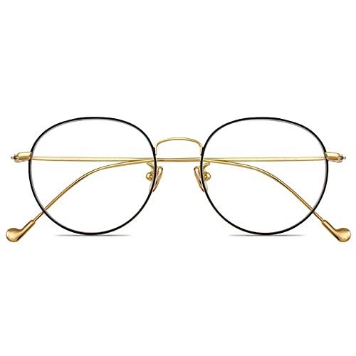 blue light glasses |gafas de sol| Moda titanio puro anti-radiación de los vidrios anti-marco azul del teléfono móvil de la computadora plana ligera de los hombres y de las mujeres Gafas de un par de g