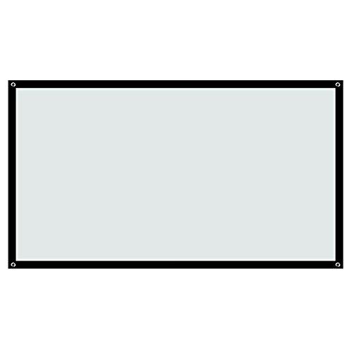 Build Excellent(ビルド エクセレント) ポータブル 軽便式 60/84/100 インチinch 16:9/4:3 プロジェクター スクリーン Screen (60 インチinch)