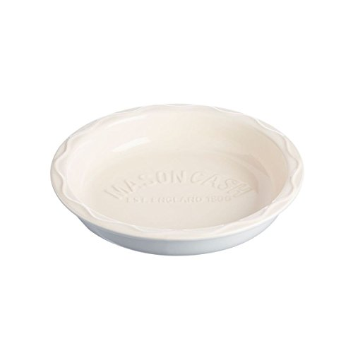 Mason Cash Bakewell Stoneware Pie Dish, 9-1/2-Inches, Cream