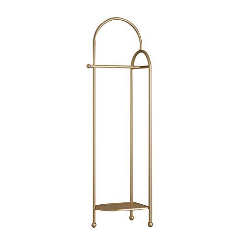 MQH Perchero Estilo Italiano Simple Coat Rack Plaza de suspensión Sala de Estar Ropa para el hogar Dormitorio Dormitorio Creativo Colgante Bolsa Capa de Abrigo Perchero de Pie (Color : Gold)