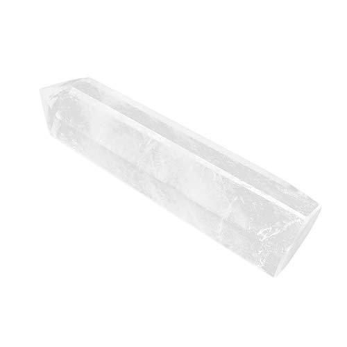 Nitrip 然水晶 クリスタル ポイント原石 白水晶の柱 クリスタル 開運浄化 インテリア パワーストーン 70g 愛、健康、幸福に満ちた人生を送る (6-7cm)