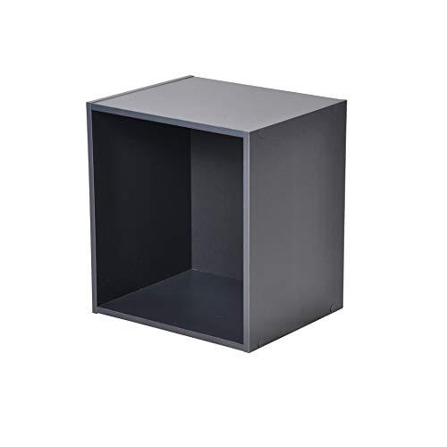 HOMEA Cube de Rangement 1 Niche, Panneaux de Particules, Gris, 34,4x29,5x34,4 cm