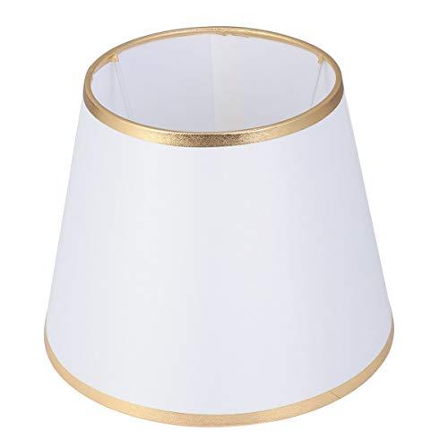 OSALADI - Tambor de pantalla antipolvo con forma de pantalla de tela para mesa, lámpara de pie, accesorio de repuesto para oficina en casa, 22 cm, color azul, tela, dorado, 22 × 17 cm