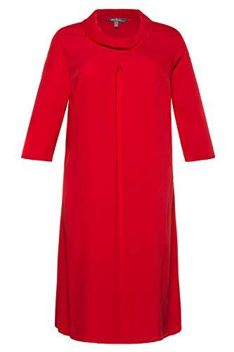 Ulla Popken Damen große Größen Kleid intensives rot 54 725729 52-54