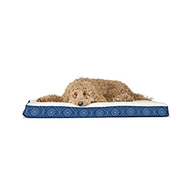 FurHaven Deluxe Orthopedic Pet Bed Mattress for Dogs and Cats, Twilight Blue, Large