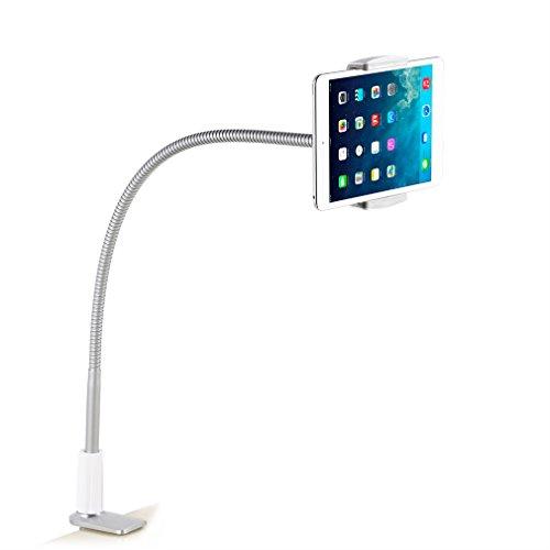 YKS Smart Phone houder Mobile Tablet White Portable Plastic & Staal Desktop staan voor bureau bed staan Tablet klem staat LP7S