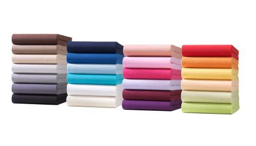 Hometex Premium Textiles Kinder Jersey Spannbettlaken Spannbetttuch | Baby Bett Bettlaken aus Jersey 100{2cd67aa8d336cab1e33f93598321b1d54b0b91e6005dca74f8807d598b42be1b} Baumwolle | Oeko-TEX® Standard 100 | 60 x 120 cm bis 70 x 140 cm in Lila