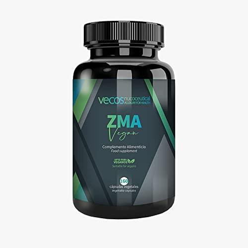 Suplemento Deportivo con Vitamina B6, Zinc y Magnesio - ZMA Vegan - 160 Cápsulas Vegetales - Contribuye a la Función Muscular Normal - Propiedades Antioxidantes