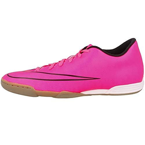 Nike Mercurial Vortex II IC, Botas de fútbol Hombre, Rosa/Negro (Hyper Pink/Hyper Pink-Blk-Blk), 38.5