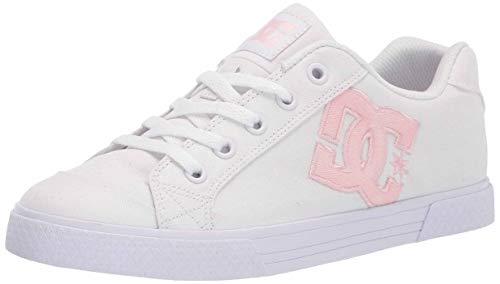 DC womens Chelsea Skate Shoe, White/Pink/White, 10.5 US