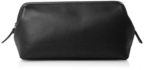 Fossil mens Framed Shave Kit Black Handbag Organizer, Black, 10.3 L x 6 W 5.5 H US
