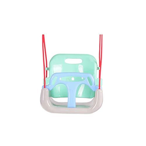 YLJJ Columpio Infantil 3 en 1, Asiento Columpio para bebé/niño pequeño/niños, Asiento Columpio Ideal para árbol/Columpio, Interior, Exterior, Parque Infantil, Azul-B, 33 * 35 cm