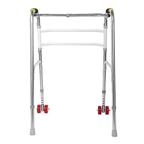 Gehgestell mit Rollen, verstellbar, faltbar, Edelstahl, Mobilitätshilfe Medizinausrüstung