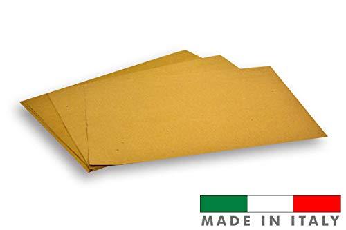 Palucart® - Manteles individuales de papel paja, 500 manteles individuales, tamaño 30 x 40 cm, para restaurante o pizzería, color habana