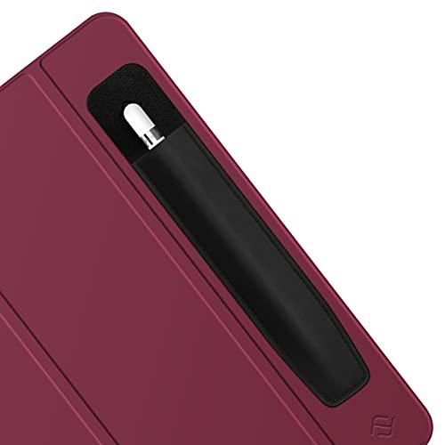 Fintie Pencil Halter Kampatibel mit Apple Pencil (1. & 2. Generation), Elastisch PU Lycra Stifthalter Tasche mit Aufkleber, Premium Schutzhülle für Stylus Pens, Schwarz