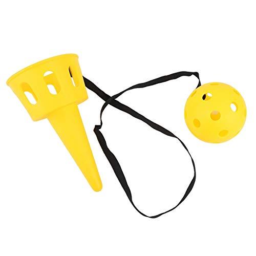 RBSD Y la Canasta del Lanzador de Captura, Taza Liviana y Juego de Pelota, Antideslizante y Duradero para el césped de la Yarda(Yellow)