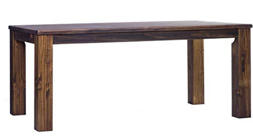 Brasilmöbel Esstisch Rio Classico 208x90 cm Eiche antik Massivholz Pinie Holz Esszimmertisch Echtholz Größe und Farbe wählbar ausziehbar vorgerichtet für Ansteckplatten