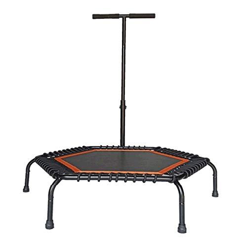 PNFP Professionele Trampoline met handvat - Mini Trampoline Rebounder met veiligheidspad, voor Volwassenen Kinderen, 112cm (44 inch), Laden 150kg