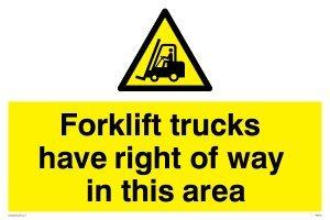 I carrelli elevatori hanno diritto di strada