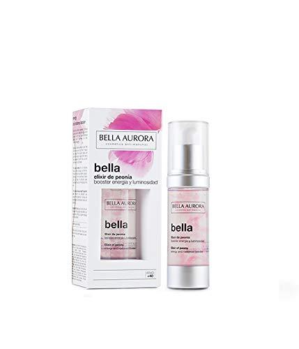 Bella Aurora Elixir de Peonía Tratamiento Facial Anti-Edad Energía y Luminosidad Reparador de Piel con Ácido Hialurónico, 30 ml