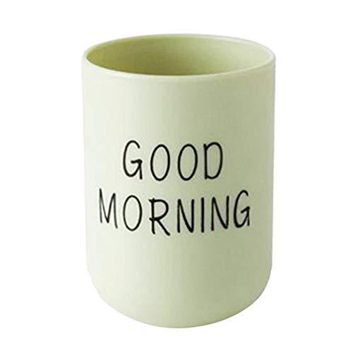 Unbekannt Neue Wassertasse Kaffeetassen 1PC Badezimmer Zahnbürste Rundschale Einfache einfache Tasse Paar Kunststoff Zahnschale Guten Morgen # 45, Grün, USA