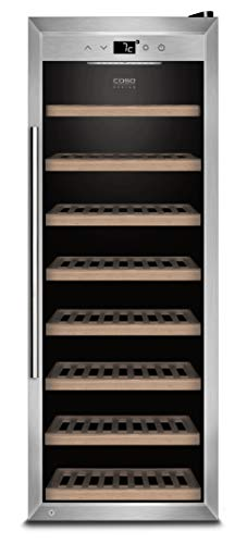 CASO WineSafe 43 Design Weinkühlschrank für bis zu 43 Flaschen (bis zu 310 mm Höhe), eine Temperaturzone 5-20°C, Getränkekühlschrank, Energieklasse A