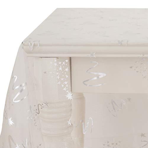 Deconovo - Tela Transparente de Organza con Purpurina para Moda, Mantel, Envoltorio de Regalo y Suministros para Fiesta de cumpleaños, 59 x 118 L, Papel de Aluminio Blanco para árbol de Navidad