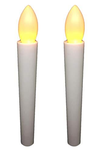 wumio 電池式LEDろうそく 長さ17cm 簡単操作 火災の心配がなく安心 お祭り・お盆・お彼岸に重宝 仏壇や教会でも便利 (2本セット)
