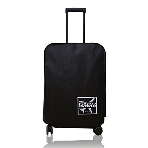 LYCOS3 Funda de equipaje de viaje, impermeable y antiarañazos, funda protectora para maleta de viaje de 20 a 30 pulgadas, negro, 51 cm