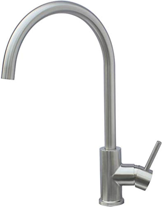 304 edelstahl küchenarmatur bleifrei umwelt heien und kalten wasserhahn gebürstet waschbecken wasserhahn