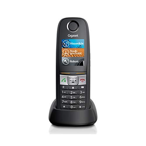 Gigaset E630HX Universal-Mobilteil - IP-Telefon (zum Anschluss an Ihre Basisstation oder Router – das robuste Telefon für Handwerker und Werkstätten) schwarz