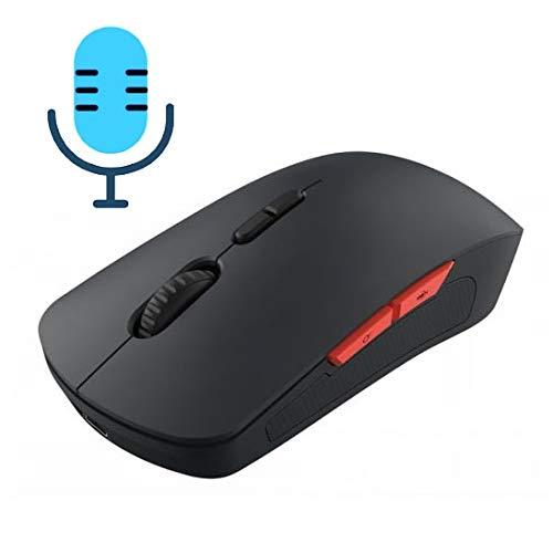 XIXI PC V6 2.4GHz 1200DPI optische draadloze muis met 7 knoppen en micro-USB-ontvanger, ondersteuning van intelligente vertaalings- en spraakopdrachten (zwart) eenvoudige installatie