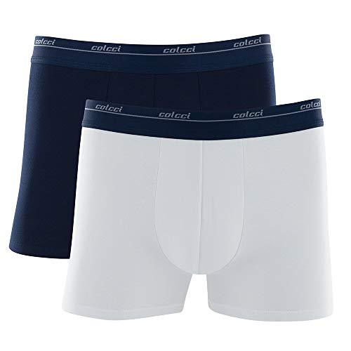 Kit 2 Cueca Boxer Cot , Colcci, Masculino, Azul Marinho/Branco, G