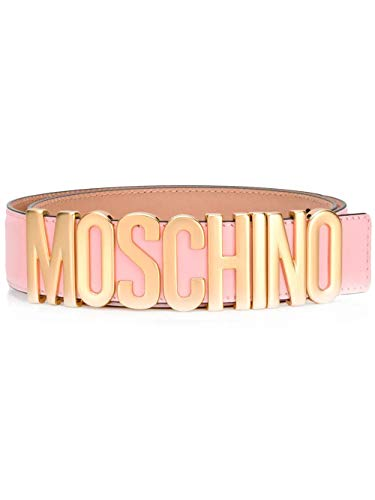 Luxury Fashion | Moschino Dames A800780010242 Roze Leer Riemen | Seizoen Permanent