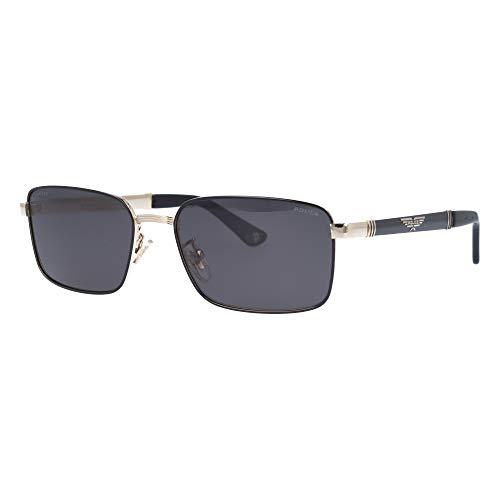 Police Origins 28 SPL-A-54 301P - Gafas de sol, color negro, dorado y gris