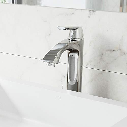 "VIGO VG03013CH 11"" H Linus Chrome Single-Handle Single Hole Vessel Deck-Mount WaterSense Bathroom Sink Faucet"