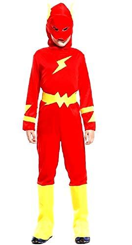Disfraz flash - super - disfraces para nios - halloween - carnaval - hroe - color rojo - nio - talla xl - 9/10 aos - idea de regalo original flash