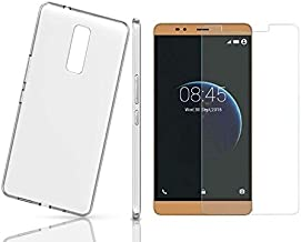 TPU Clear Case Cover with 9H Glass Screen Protector For Infinix Note 3 X601