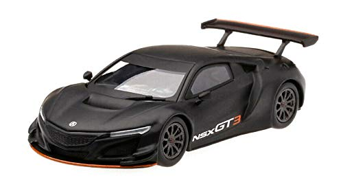 """Acura NSX GT3 Matt Black Los Angeles Auto Show 2017"""" Limited Edition to 3,600 Pieces Worldwide 1/64 Diecast Model Car by True Scale Miniatures MGT00026"""