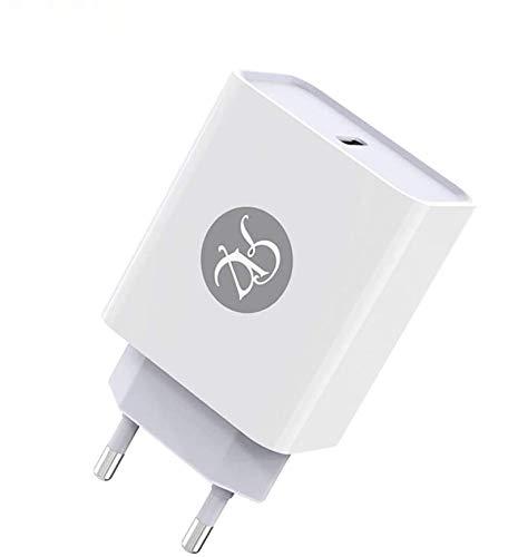Caricatore USB C da Muro Power Delivery 3.0 18W, PD Caricabatterie da Parete Alimentatore USB C Quick Charge Compatibile con iPhone 11/PRO/Max/XS/Max/XR/8 iPad PRO 2018 Samsung S10/S9 Huawei P30/P20