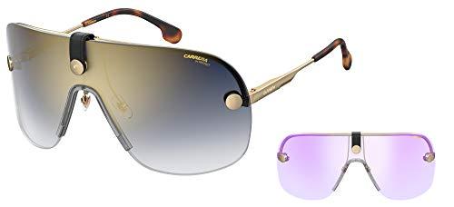 Carrera Gafas de sol CA EPICA II LKS / 1V Gafas de sol unisex color Oro azul tamaño de la lente 99 mm