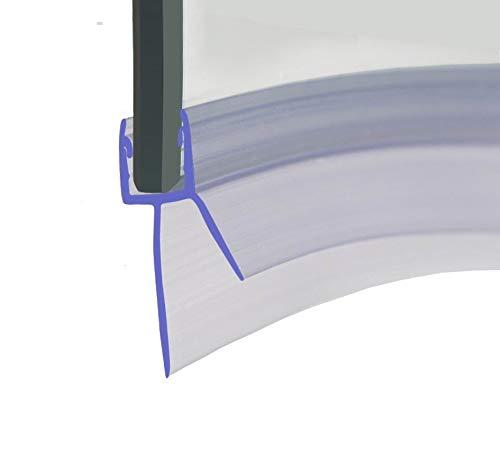 HNNHOME® Tira de plástico de goma precurva de 870 mm, perfecta para puertas de cristal curvadas o rectas de 4 a 6 mm con espacio de hasta 20 mm