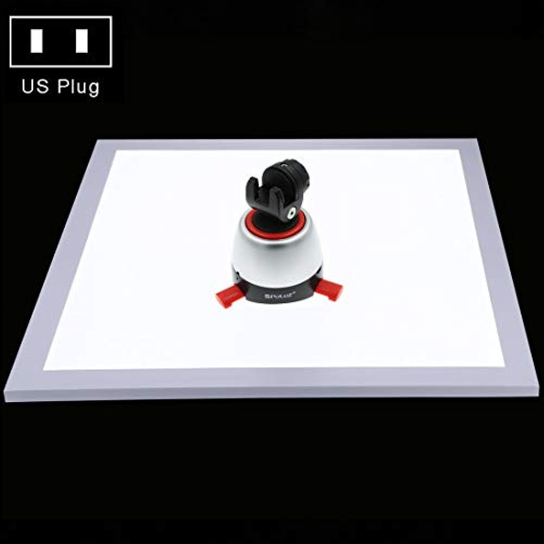 HUANGMENG Fotobeleuchtung PULUZ 1200LM LED Fotografie Schattenloses Licht Lampe Panel Pad mit Schalter, Acrylmaterial, kein Polar-Dimming-Licht, 34,7 cm x 34,7 cm Nutzflche, US-Stecker