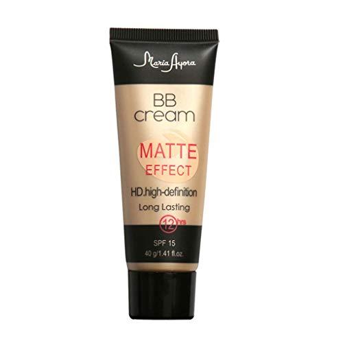 teng hong hui Maria AYORA BB Cream SPF15 Mate Efecto Duradero Cara Corrector Mate Natural Larga Duración Cara Corrector Maquillaje Crema Base