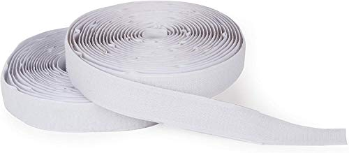"""Darice Hook and Loop Strips – Strong Self-Adhesive Interlocking Tape – for Sewing, Crafting, Around The House and Classroom – Easily Cut to Size – 3/4"""" W x 15' L, White, Feet"""