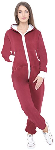 Juicy Trendz: Neuer und stilvoller Damen-Jumpsuit, Weinrot - 3