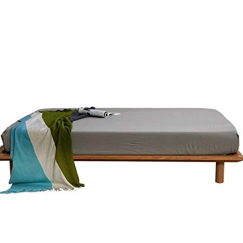 PENVEAT Spannbetttuch Reine Farbe Hautfreundliche Baumwolle in verschiedenen Größen optional Bettlaken-Matratzenbezüge Qualitätssicherung Tagesdecke, HUI se, 180x200x25cm